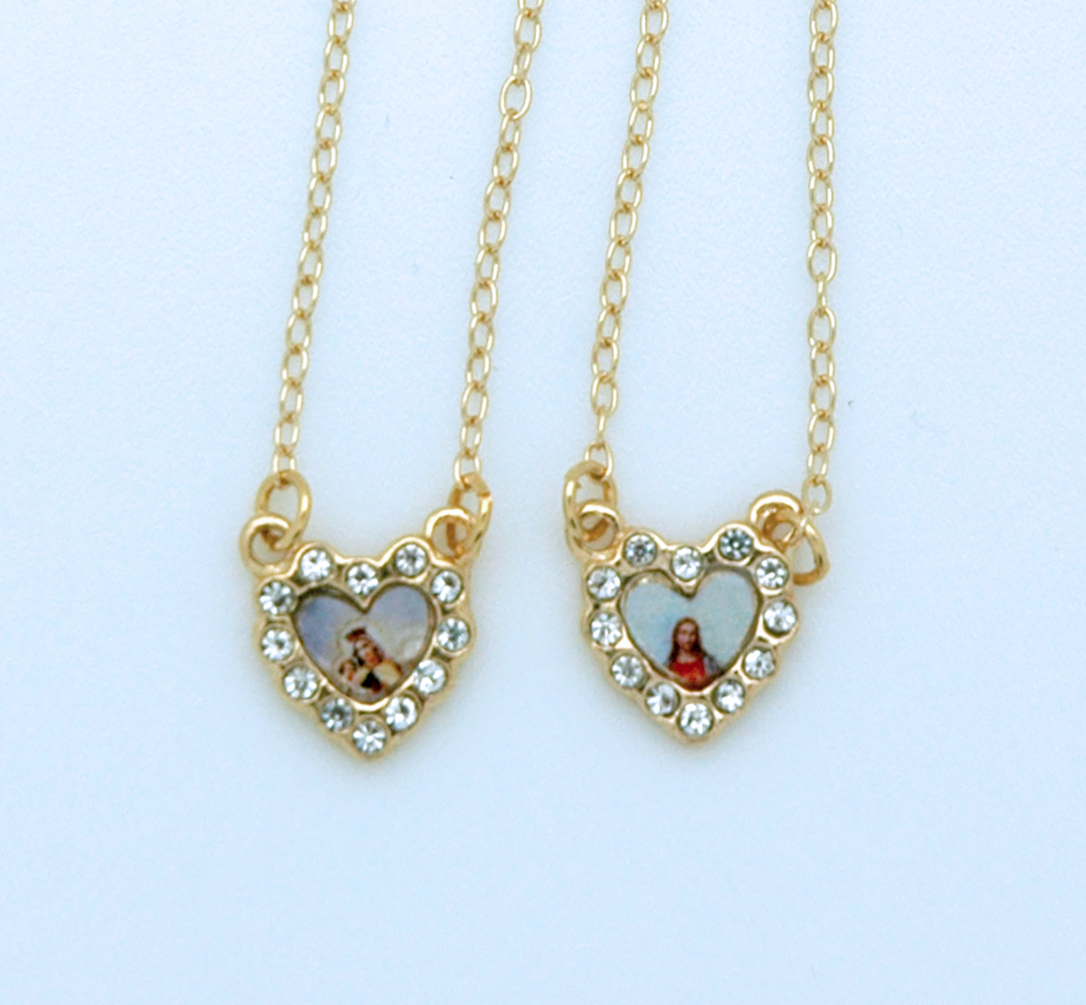 Bf89 Brazilian Gold Plated Scar Hearts With Color Pictures Crystals