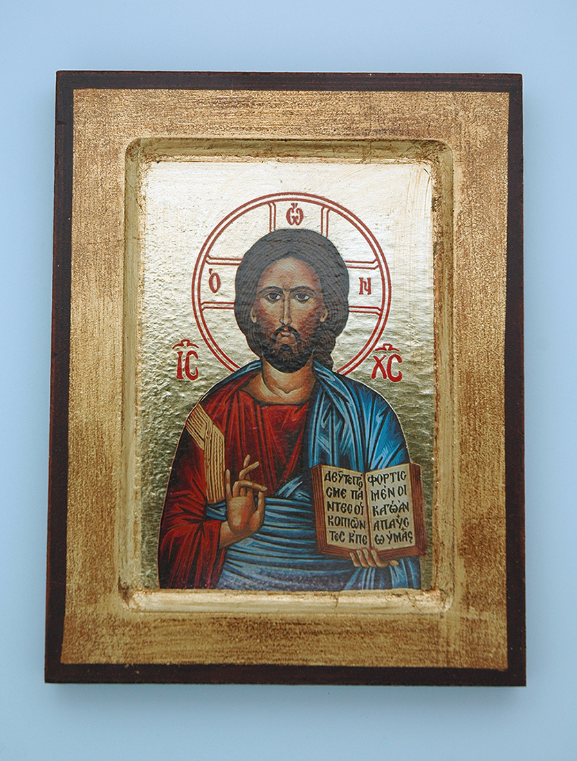 G0SR-CT - Greek Icon, Jesus, 5x7 in.