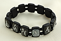 BVP16 - Brazilian Wood Saints Bracelet, Black, Black & White Pictures