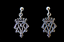SSE4 - Sterling Silver Earrings, Ave Maria