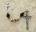 SSR30 - Sterling Silver Rosary, Ox Bone & Wood Skulls