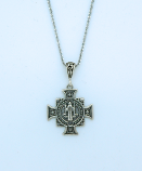 SSN94 - Sterling Silver St. Benedict Medal on Sterling Silver Chain