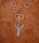 SSN59 - Sterling Silver Angel on Sterling Silver Circle Link Chain