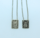 SSN160 - Sterling Silver Scapular, 11/16 in. Medals
