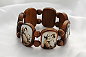 BP7MS - Brazilian Wood Bracelet, Brown, Sepia Madonnas