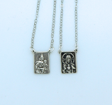 SSN159 - Sterling Silver Scapular, 9/16 in. Medals