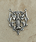 SS45 - Sterling Silver Center, Madonna with Leaves, 1 in.