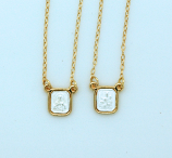 BF01 - Brazilian Gold Plated Scapular, Silver Centers
