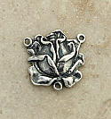 SS34 - Sterling Silver Center, Rose, 3/4 in.
