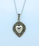 SSN1 - Sterling Silver Necklace, Heart, 18 in. Sterling Silver Chain