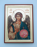 G1SF-M - Greek Hand Painted Serigraph, St. Michael, 7x9 in.