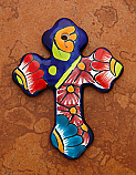 MXT3 - Ceramic Talavera Cross, 4 1/2 inches