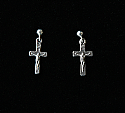 SSE27 - Sterling Silver Earrings, Crucifix