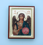 G00SF-M - Greek Hand Painted Serigraph, St. Michael, 4x5 in.