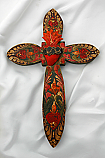 MXC5 - Mexican Hand Painted Cross, 11 1/2 in.
