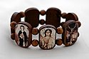 BA9113SP - Brazilian Wood Bracelet, 7 Angels, Sepia Pictures