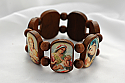 BP7MD - Brazilian Wood Bracelet, Brown, Color Madonnas