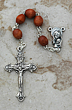 DR11BR - Italian Wood Rosary, Brown