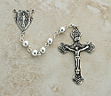 SSR23 - Sterling Silver Rosary, 6 mm.