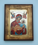 G0SR-MDR - Greek Icon, Red Madonna, 5x7 in.