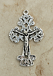 SSC6 - Sterling Silver Crucifix, Ireland, Celtic, Late 19th Century, 2 in.