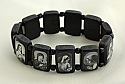 BVP12 - Brazilian Wood Saints Bracelet, Black, Black & White Pictures