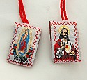 SCP-SH - Red Wool Scapular, Sacred Heart