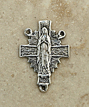 SS40 - Sterling Silver Center, Our Lady of Lourdes/Heart, 1 in.