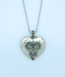 SSN12 - Sterling Silver Necklace, Heart, 18 in. Sterling Silver Chain