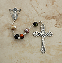 SSR11 - Sterling Silver Rosary, Peacock Freshwater Pearls