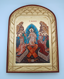 G2SKS-2 - Greek Icon, Hand Painted Serigraph, Resurrection, 14x10 in.