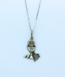 SSN90 - Sterling Silver First Communion Chalis on Sterling Silver Chain