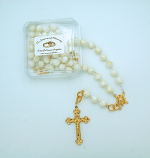 PMT505 - 10 mm. Mother of Pearl Bride's Rosary from Fatima
