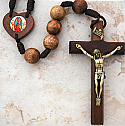 BA7102 - Brazilian Wood Wall Rosary with Picture, Assorted Subjects