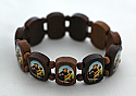 BP05AN - Brazilian Wood Bracelet, St. Anthony