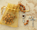 HLRJ - Olive Wood Rosary with Soil from Jerusalem