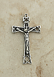 SSC30 - Sterling Silver Crucifix, Lattice Cross, 2 1/4 in.