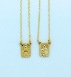 BF114 - Brazilian Gold Plated Scapular