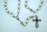 PATP422 - Pearl Wall Rosary with Caps from Fatima