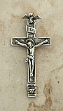 SSC13 - Sterling Silver Crucifix, Russia, 19th Century, 2 3/4 in.