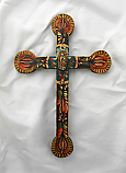 MXC3 - Mexican Hand Painted Cross, 12 in.