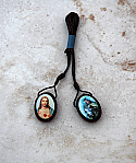 BA22365 - Brazilian Wood Oval Scapular