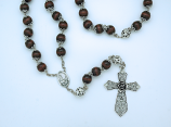 P21MP - Wood Wall Rosary with Caps, from Fatima, 18 mm. Beads