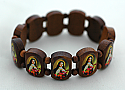 BP05T - Brazilian Wood Bracelet, St. Teresa, 3/4 in.