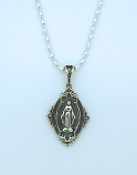 SSN54 - Sterling Silver Miraculous Medal on Sterling Silver Chain