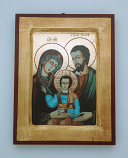 G0SR-HF - Greek Icon, Holy Family, 5x7 in.