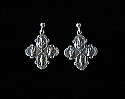 SSE32 - Sterling Silver Earrings, Four Way Medal