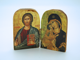 GA2 - Greek Icon, Medium Diptych, 3 in.
