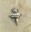 SS21 - Sterling Silver Center, Milagro Heart, 1 in.