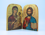 GA3 - Greek Icon, Large Diptych, 5 1/2 in.
